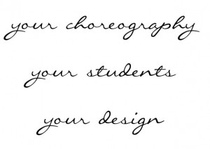 your choreo handwritten